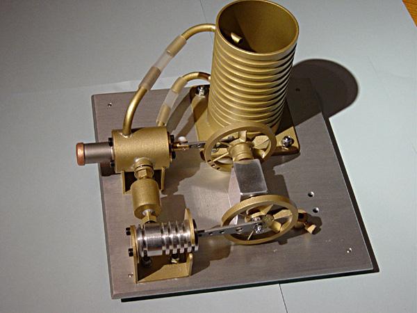 Alain's OpTitec engine running in cogénération